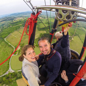 Exclusive flight for two. From Barberino in Chianti.